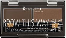 Rimmel London Brow This Way Scuplting Kit W očné linky 2,4g