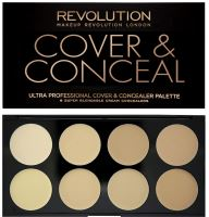 Makeup Revolution London Ultra Cover And Conceal Palette W korektor 10