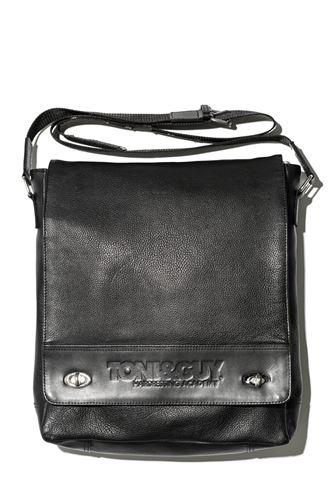 T & G Stylist Bag Large Black Leather / Kožená taška cez rameno, čierna