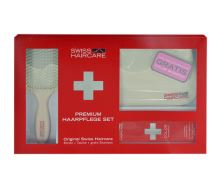 Swiss Haircare Premium Haircare Color Kit Šampón na poškodené, farbené vlasy W Pre farbené vlasy Paddle Brush + Bag + 200ml Color Shampoo