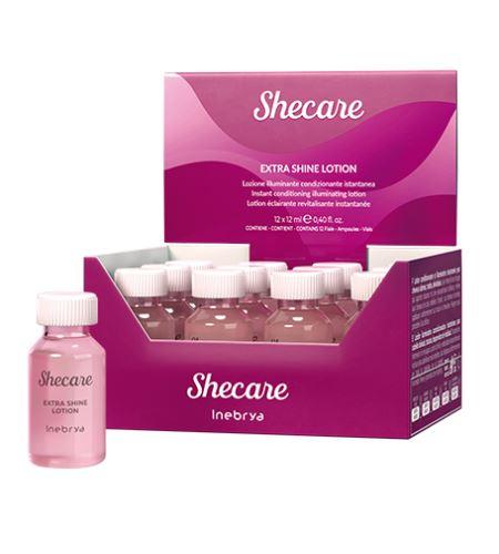 Inebrya SHECARE Extra Shine Lotion kondicionér pre okamžité rozžiarenie 12 x 12 ml