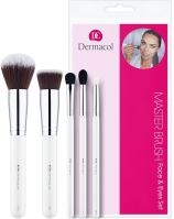 Dermacol Brushes W štetec 1 kozmetický štetec D51 1 ks + kozmetický štetec D55 1 ks + Kozmu