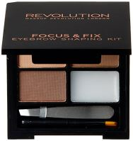 Makeup Revolution London Focus & Fix Eyebrow Shaping Kit W očné tiene 5,8g