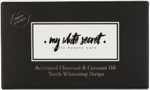 My White Secret Activated Charcoal & Coconut Oil Teeth Whitening Strips 14pcs