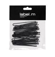 label.m U-Pin Straight Black 70mm (40) / Vlásenka do U rovná čierna 70mm 40ks