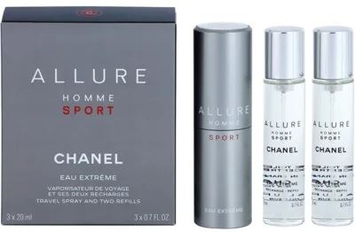Chanel Allure Homme Sport Eau Extreme EDT 3x20ml Pre mužov plniteľný flakón