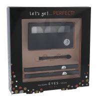 2K Let 'Get Perfect! Eyeshadow W kozmetická pomôcka 7g paletka očných tieňov 3 x 2,2 g + aplikátor očných tieňov 1 ks + ceruzka na oči 0,2 g 086 + ceruzka na oči 0,2 g 087