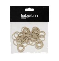 label.m No Pull Braiding Bands Beige 15mm (50) / Krúžok béžový 15mm 50ks