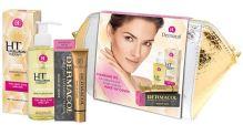 Dermacol 3D Hyaluron Therapy W čistiace olej 50 čistiaci pleťový olej 150 ml + make-up Cover SPF30 30 g 210 + kozmetická taštička